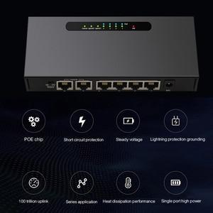 Image 5 - 6 יציאת POE מתג Ethernet מתג עם 48 V כוח מתאם עבור רשת IP מצלמות או אלחוטי AP/4 poE יציאות מתאים עבור טלוויזיה במעגל סגור