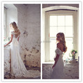 Lace Wedding Dresses 2017 Sweetheart Sleeveless Backless Sweep Train Applique A-line Ivory Beach Wedding Gowns Vestido De Noiva