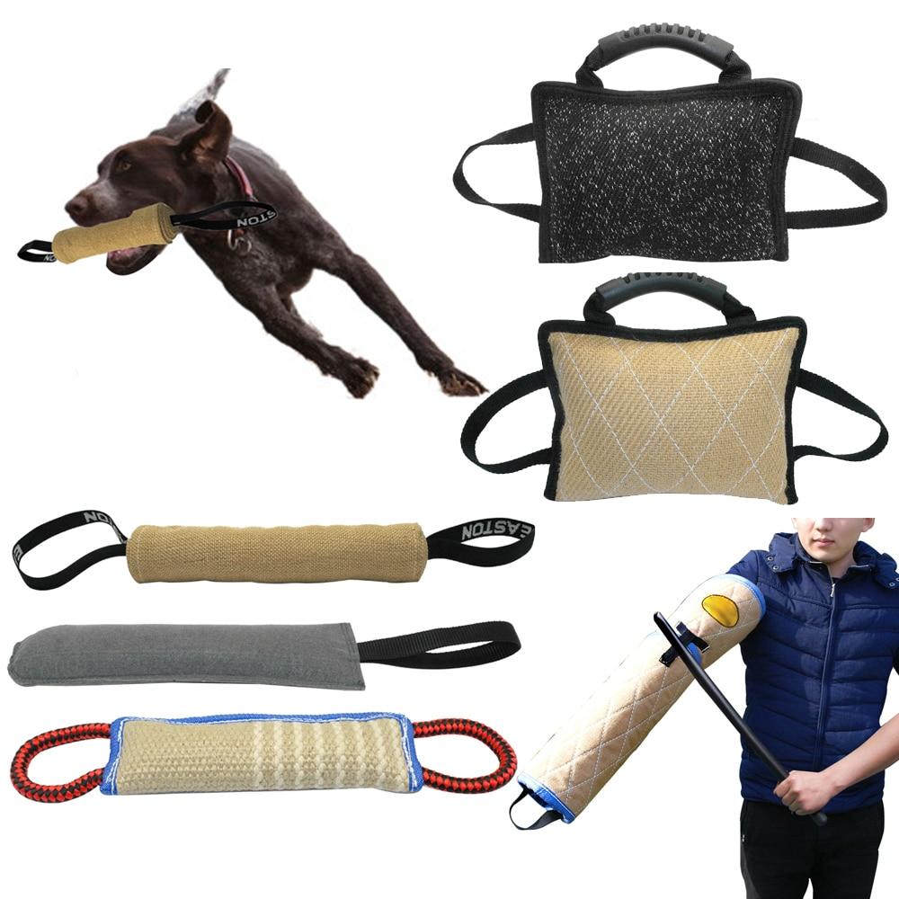 Dog Tug Toy Agility: Dog Training Bite Tugs Pet Bite Pillow Jute Dog Bite