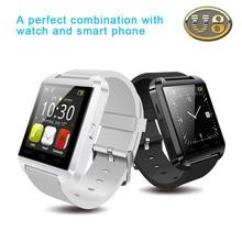 Freies Verschiffen neue Smartwatch Bluetooth Smart Uhr U8 Armbanduhr digitale Sport Uhren für Android Smartphone 3 Farben optional