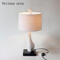 Корейский мечта кружева настольная лампа принцессы комнаты девочки спальня ночники Европейский теплый сладкий Ткань Настольная лампа Бес