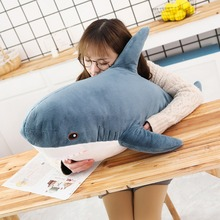 Sharks Cute Animals Pillow Plush toys soft dolls Kawaii Stuffed birthday gifts kids present baby Sleeping toy 80/100cm 30 недорого