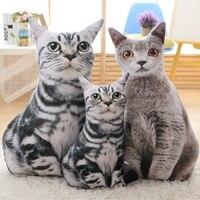 Kawaii Plush Mô Phỏng Mèo Đồ Chơi Thú Nhồi Bông Ty Thiết Kế Gối Knuffel Món Quà Sinh Nhật Nhỏ Pelucias Đồ Chơi Cho Trẻ Em 50T0264