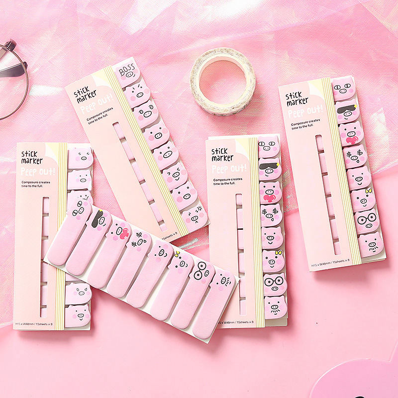 1 шт. милый Kawaii Свинья Стиль Липкие заметки самоклеющиеся индекс блокнот стикер для канцелярских товаров закладки блокноты школьные офисные поставки|Блокноты|   | АлиЭкспресс