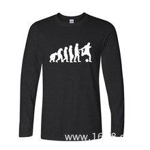 2017 Fashion New Gift Tee Evolution Of Footballer T Shirt funny Long TShirts Long Sleeve T Shirt