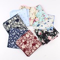 Paisley Cotton Handkerchiefs Woven Floral Printing Flower Pocket Square Mens Casual Square Pockets Handkerchief Towels