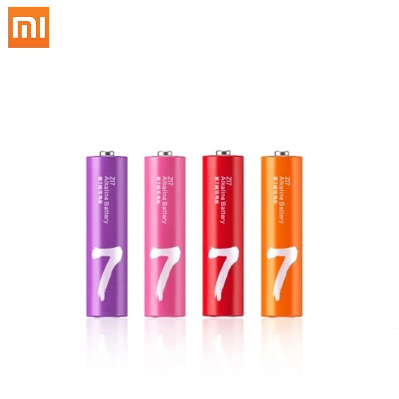 Оригинальный набор аккумуляторов xiaomi ZMI ZI7, 4 шт., AAA, 1,5 В, lkaline, Радужный одноразовый комплект аккумуляторов для камеры, мыши, клавиатуры Батарейки    - AliExpress