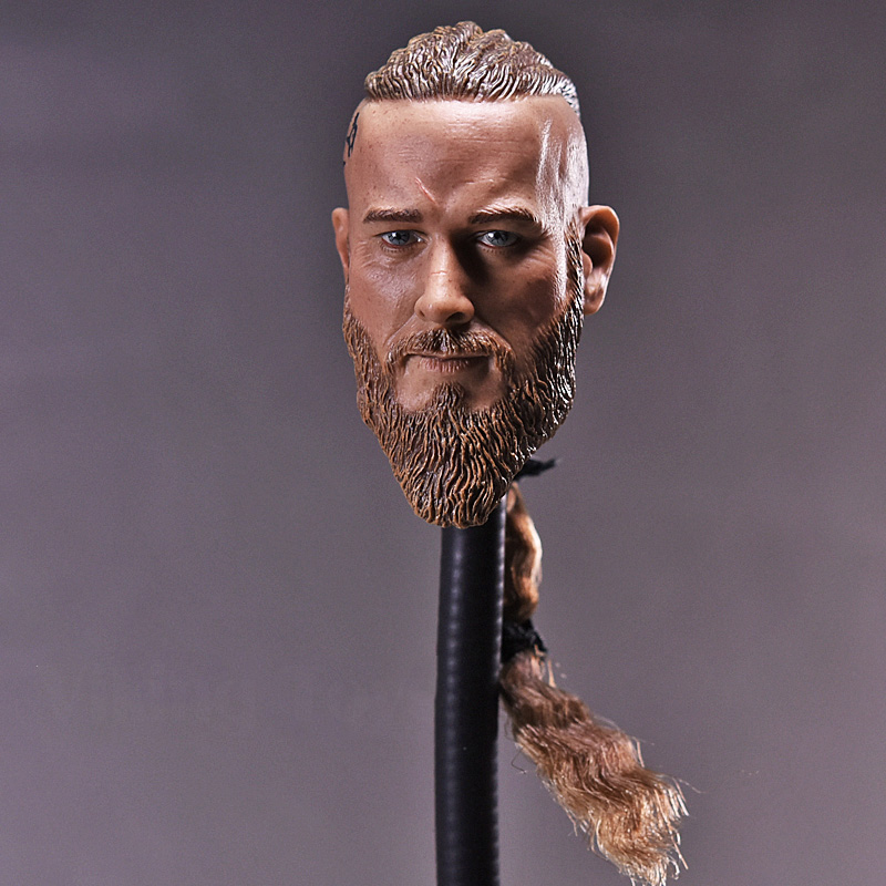 1/6 Scale Mens Head Sculpt Viking Travis Fimmel with Braid For 12 Inches Male Muscular Bodies Figures Dolls фигурка героя мультфильма 1 6 12 head sculpt
