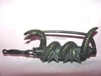 Home Decor Metal Crafts Rare Chinese Old Style Brass Snake Figure Lock Key 0000