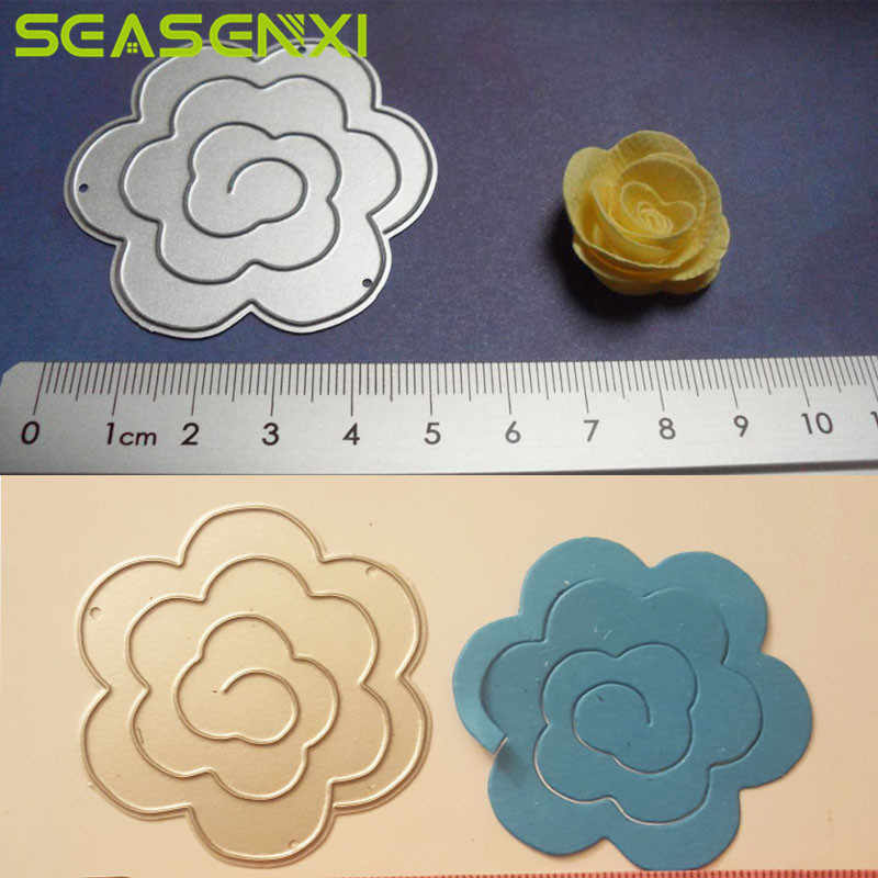3D Flower Cutting Dies DIY Metal Stencils Embossing Tools Card Paper Decorative Crafts Die Cuts Scrapbooking Photo Album Decor