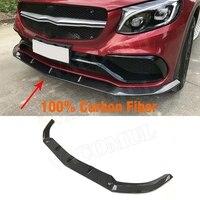X253 Carbon Fiber Car Racing Front Lip Bumper Splitter for Mercede Benz GLC C63 AMG 4 Door 2014 2018