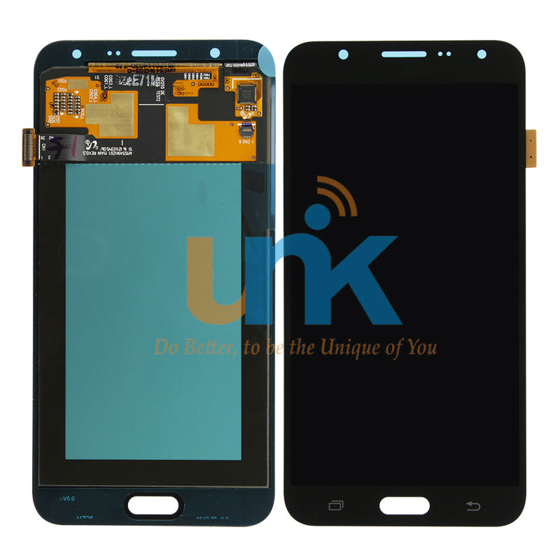 Original probado pantalla lcd del teléfono móvil completa para samsung j7 2015 l