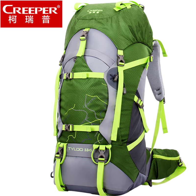 Creeper Rucksack Outdoor Trekking Camping Hiking Backpacks Sport Bag with Rain Cover Mountaineering Daypack 60L sac a dos sport unisex 60l outdoor backpack nylon waterproof mountaineering hiking camping backpacks sport bag climbing rucksack with rain cover