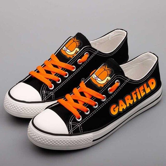 Lace-up Estudantes Rua Andando Sapatos de Graffiti Dos Desenhos Animados Meninos das Sapatas de Lona da Cópia Do Gato Ao Ar Livre Tenis Alpercatas Zapatos Hombre
