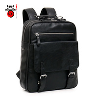 Hot Sell Leisure High Quality Men Business Backpacks 2016 Fashion High Grade PU Leather Designer Men