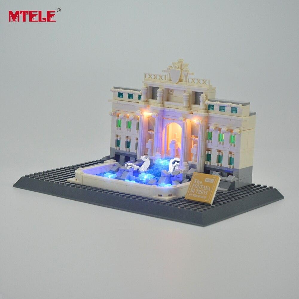 MTELE Brand LED Light Up Kit Untuk Trevi Fountain Architecture Siri - Mainan pembinaan - Foto 4