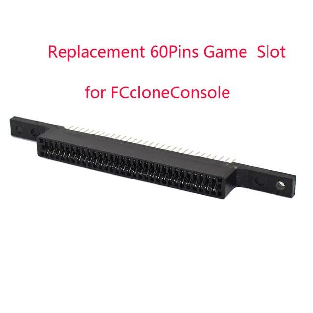 10 шт. много Замена 60 шпильки игровой картридж слот для FCcloneConsole разъем 60 Pin