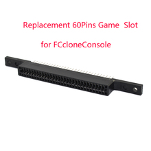 10ピースaロット交換60ピンゲームカートリッジスロット用fccloneconsoleコネクタ60ピン