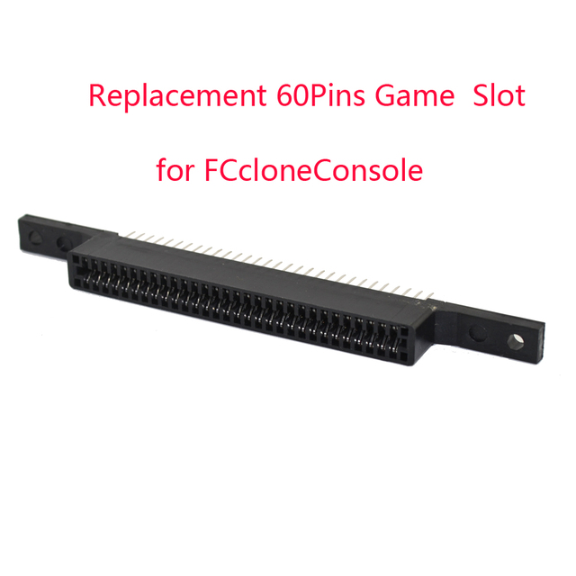 10pcs a lot Replacement 60Pins Game Cartridge Slot for FCcloneConsole Connector 60 Pin
