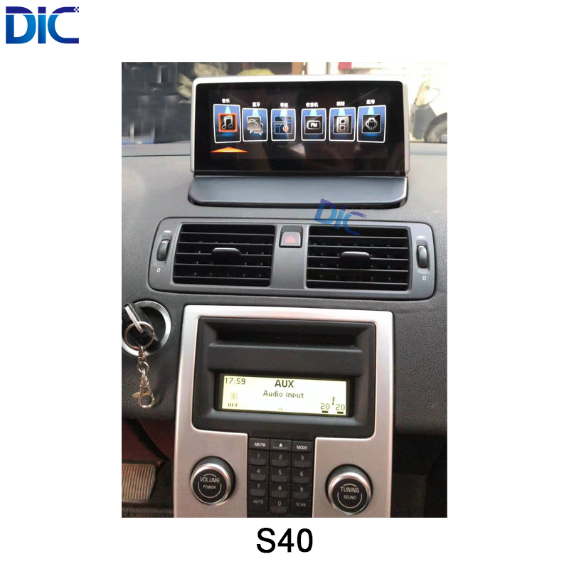 DLC Android system navigation car player multifunction GPS car styling 10.25 inch video audio For <font><b>volvo</b></font> <font><b>S40</b></font> image