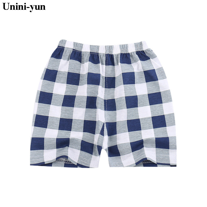 Unini-yun Kids Cotton   shorts   Boy,Girl,Baby,Infant,Plaid   shorts   Panties For Children Cute High-quality Underpants gifts
