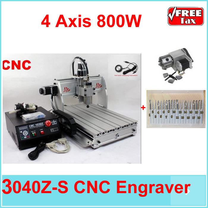 EU NO TAX price stone cutting machine CNC 3040 Z-S 4 Axis metal marble used machinery,800w water cooled spindle +spring collect russia tax free 6040 cnc marble cutting machine 4 aixs cnc spindle 1 5kw water cooled for 3d glass design