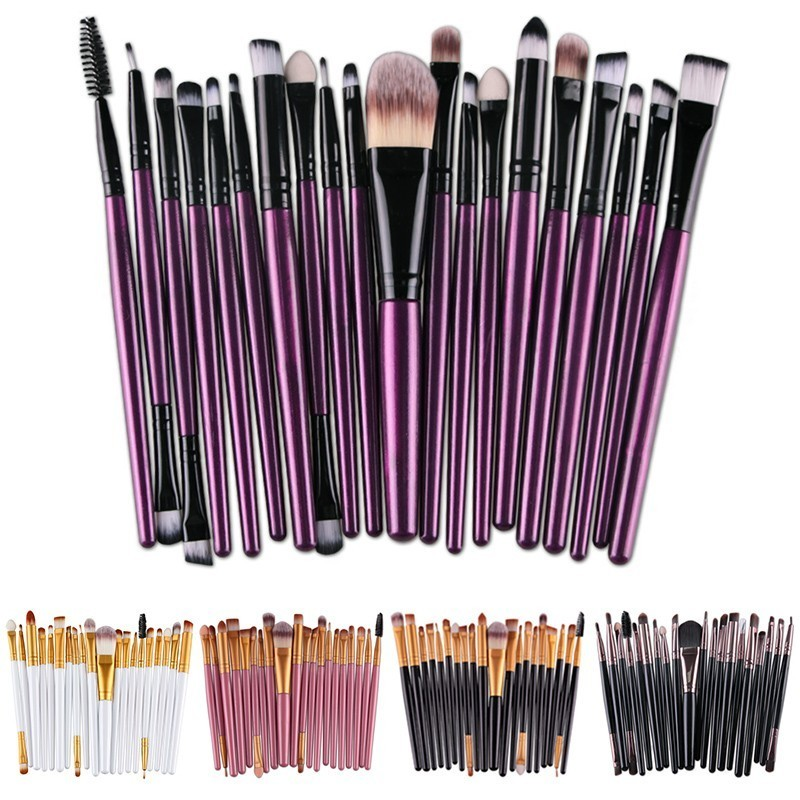 20Pcs Eyelashes Makeup Brushes Face Set Professional Foundation Eyeshadow Powder pincel maquiagem Brush for Makeup Cosmetic Tool