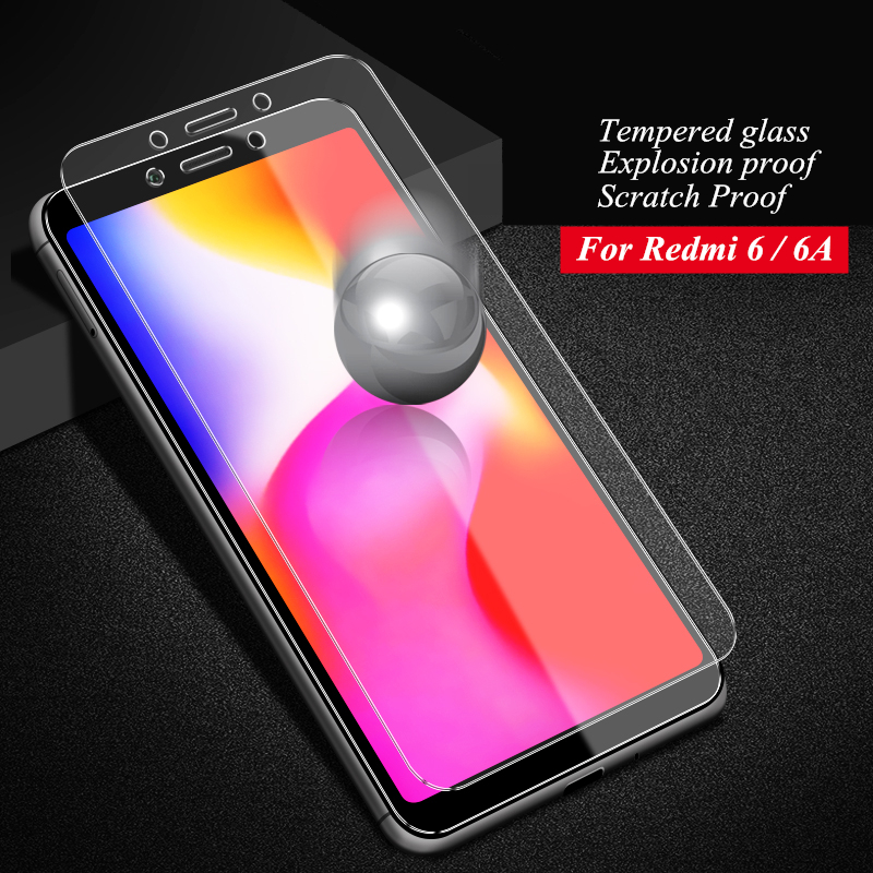 Image 3 - Redmi 6A Protective glass 2.5D 9H HD High quality Full Screen protector for Xiaomi Redmi 6A Tempered glass-in Phone Screen Protectors from Cellphones & Telecommunications
