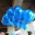 30 piezas redondo balloons10inch globos oro globo de látex azul boda bolas de aire balon decoración del partido del feliz cumpleaños 1,5g