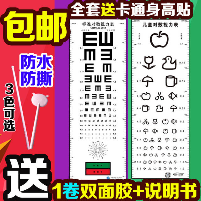 Visual Acuity Chart Standard Children S Home Cartoon Version Of The E Type C