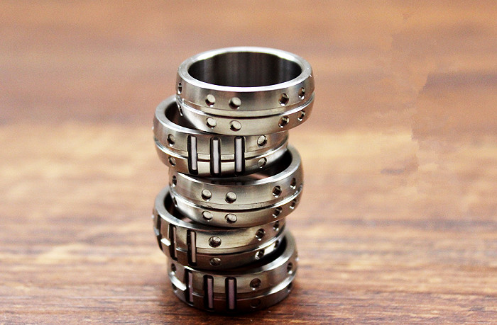 16mm/18mm/20mm/22mm anneaux en alliage de titane Tritium Tube Tritium gaz lumineux mode unisexe anneau bijoux