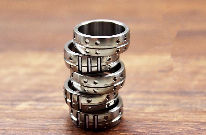 16mm/18mm/20mm/22mm Rings Titanium Alloy Tritium Tube Tritium Gas Luminous Fashion Unisex Ring Jewelry