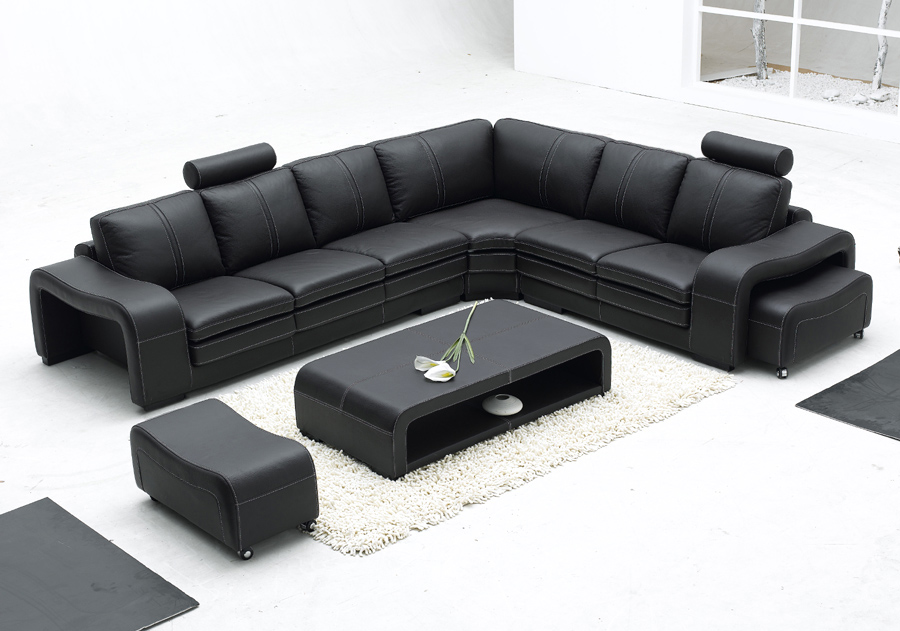 US $1478.0 |Modern italian furniture simple style super big size living  room furniture L shape leather sofa-in Living Room Sets from Furniture on  ...