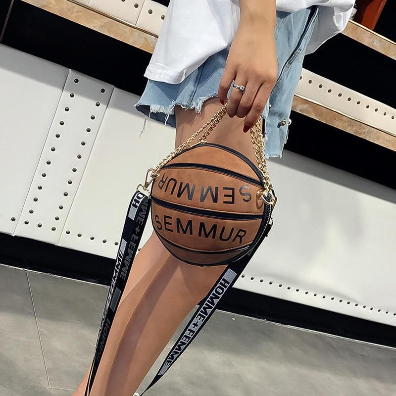 Luxury Handbags Women Bags Designer Famous Brand Letter Chain Basketball Bag Purse Female Shoulder Messenger Clutch Bag Sac C318