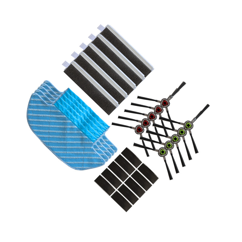Robotic Vacuum Cleaner Mop Cloths Brush Filter For ECOVACS DEEBOT OZMO Slim 10 Robot Vacuum Cleaner Rags Parts Accessories