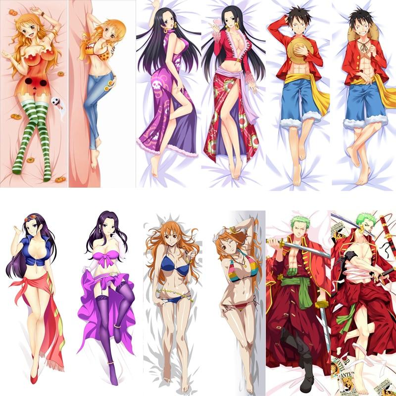 April Update Anime ONE PIECE Monkey D. Luffy & Roronoa Zoro & Nami & Nico Robin Dakimakura Throw Pillow Cover Body Pillowcase