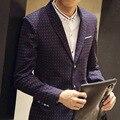 2016 pontos sobre o novo blazer Single-breasted dos homens cultivar a moralidade lazer blazer