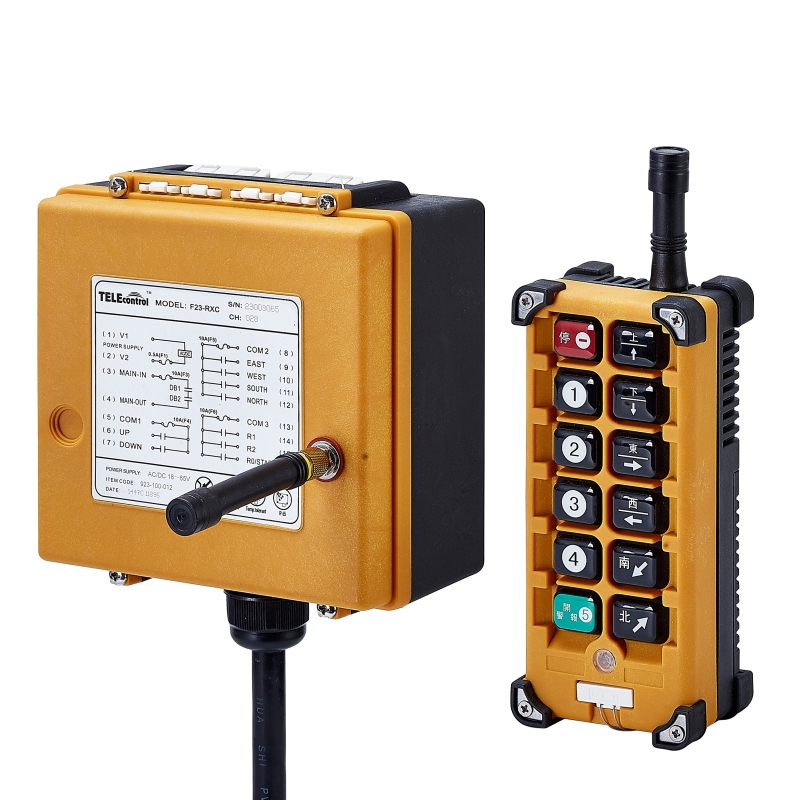 F23-A+12 keys indusrtial crane remote controler(include 1 transmitter and 1 receiver Radio Remote Control wireless remote Switch ac65 440v industrial remote control wireless hoist crane remote control switch 1 receiver and 1 transmitter push button switch