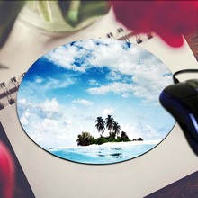 Trees On The Small Island Round 200*200*2mm Mouse Pad Mousepad Computer PC Laptop Comfort Gaming Mouse Pad