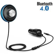 BT-3 Aux 3.5mm Bluetooth Receiver Car Kit with Dual USB Charger Bluetooth Music Receiver Adapter for Car and Home Audio System