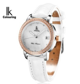 Ik mechanical watch female elegant fashion ladies watch ladies watch strap rhinestone waterproof watch