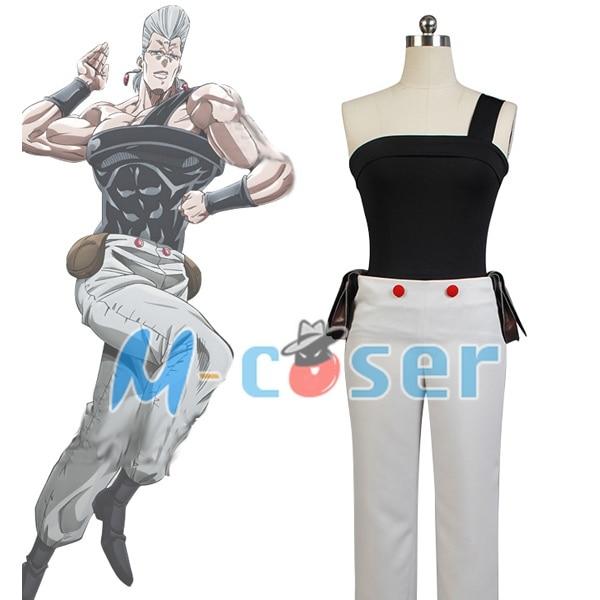 JoJo s Bizarre Adventure Stardust Crusaders font b Jean b font Pierre Polnareff Cosplay Costume For