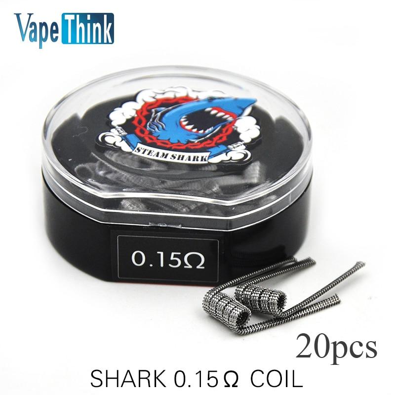 Vapethink Steam Shark Prebuilt Coil wire Shark Coils 0 15ohm