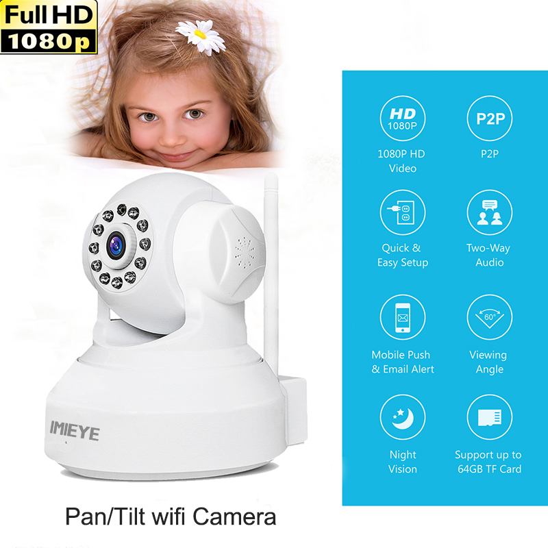 IMIEYE Full HD 1080P 720P IP Camera Wifi Wireless Surveillance Mini CCTV Camera Home Security Alarm Onvif Support 128G SD Card vstarcam c7815wip 720p hd wireless bullet wifi ip camera outdoor security waterproof cctv compatibility and support 128g tf card