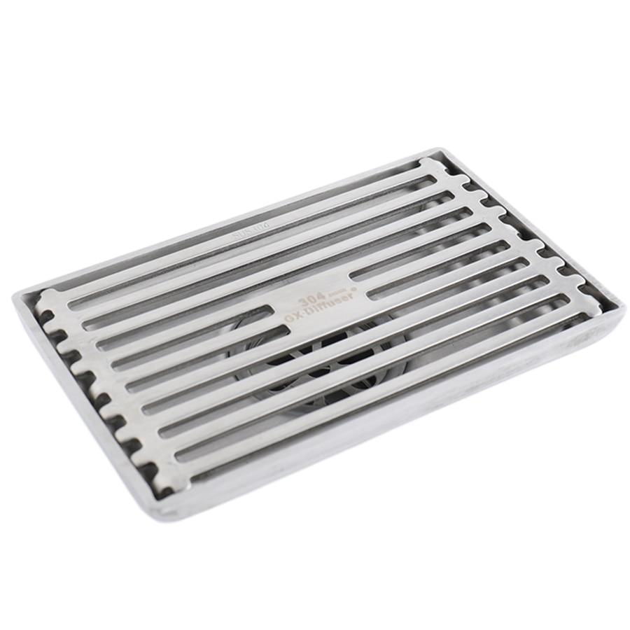 High Quality Steel Round Tile Insert Bathroom Shower Square Floor Drain Cover