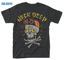2017 Fashion  Graphic Men Crew Neck S Neck Deep Skulls Short-Sleeve T Shirts original new arrival 2017 adidas originals s s graphic tee men s t shirts short sleeve sportswear