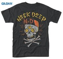 2017 Fashion  Graphic Men Crew Neck S Neck Deep Skulls Short-Sleeve T Shirts цены