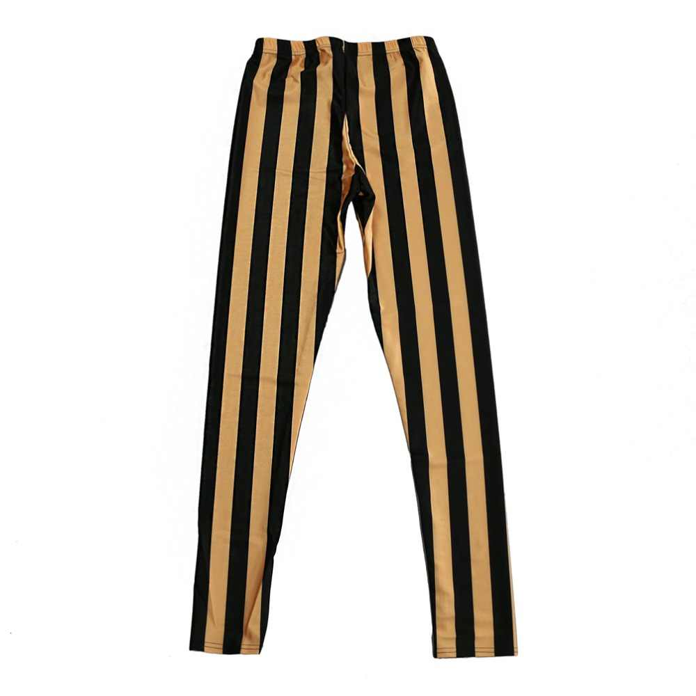 2ddee79d30a4a Digital Printing Leggings Yellow bottom black stripe Pattern Women Casual  Pants 7 sizes Fitness Clothing Free