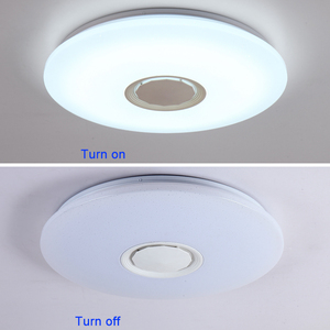 Image 5 - מוסיקה LED תקרת אורות RGB APP ושלט רחוק תקרת מנורת שינה 25W 36W 52W סלון אור lampara דה techo