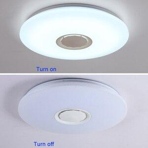 Image 5 - Музыкальный светодиодный потолочный светильник s RGB APP и дистанционное управление потолочный светильник для спальни 25 Вт 36 Вт 52 Вт лампа для гостиной